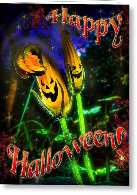 Trick-or-treat Greeting Cards - Happy Halloween Greeting Card by Alessandro Della Pietra