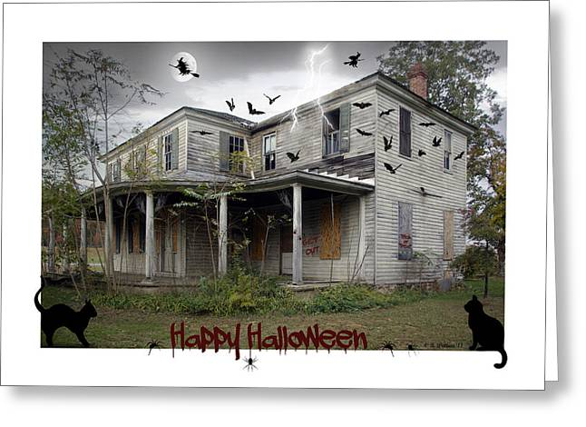 Sfx Greeting Cards - Happy Halloween Greeting Card by Brian Wallace