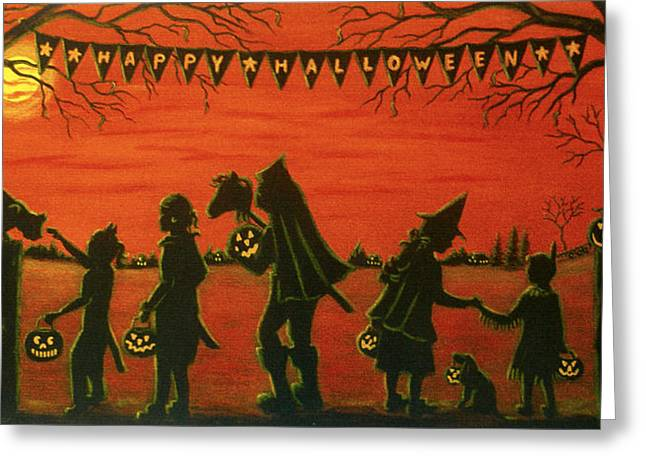 Headless Horseman Greeting Cards - Happy Halloween Greeting Card by Christine Altmann