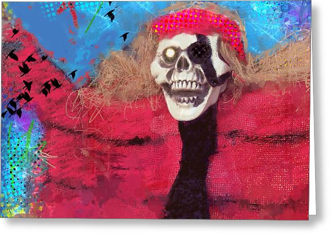 Creepy Digital Art Greeting Cards - Happy Halloween Greeting Card by Elena Nosyreva