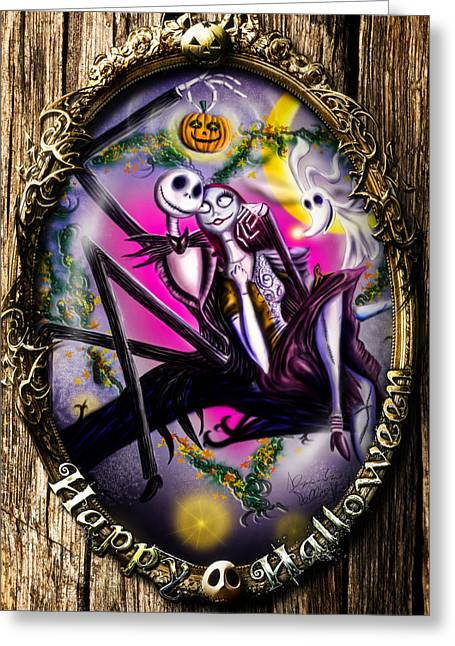 In Love Couple Greeting Cards - Happy Halloween III Greeting Card by Alessandro Della Pietra