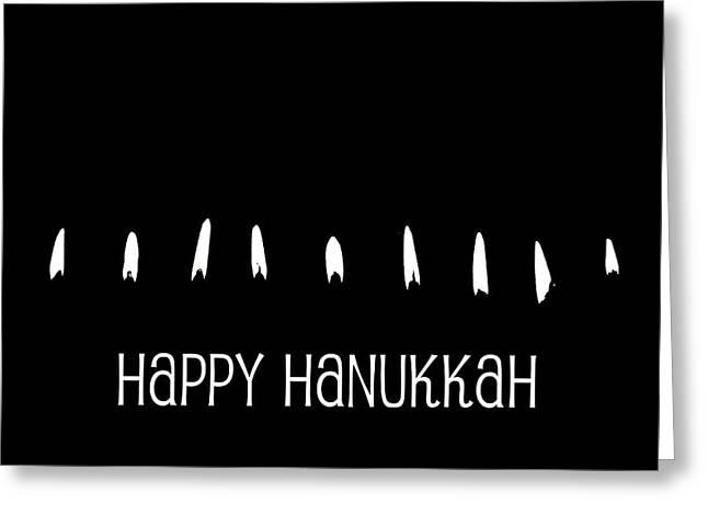 Hannukah Greeting Cards - Happy Hanukkah Greeting Card by Fraida Gutovich