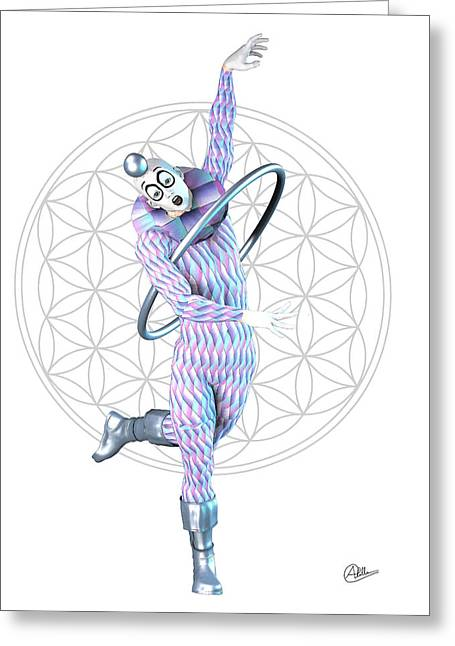 Pantomime Greeting Cards - Happy Harlequin By Quim Abella Greeting Card by Joaquin Abella