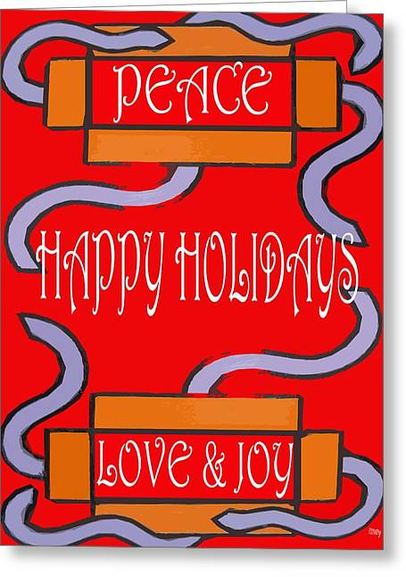 Wishes Mixed Media Greeting Cards - Happy Holidays 103 Greeting Card by Patrick J Murphy
