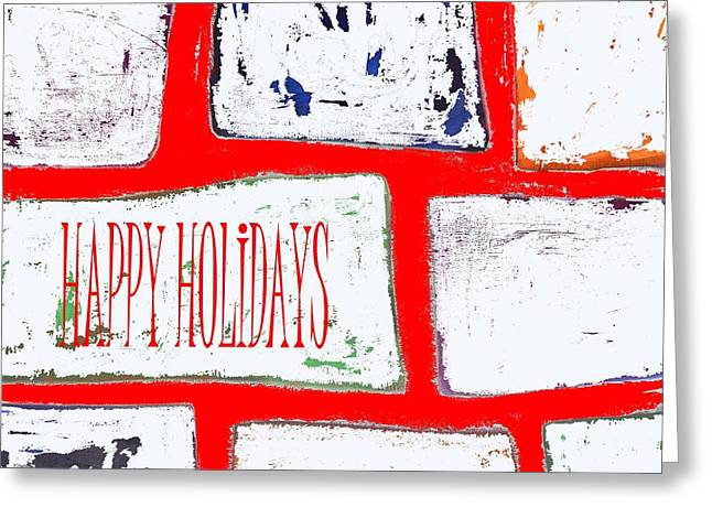 Wishes Mixed Media Greeting Cards - Happy Holidays 104 Greeting Card by Patrick J Murphy