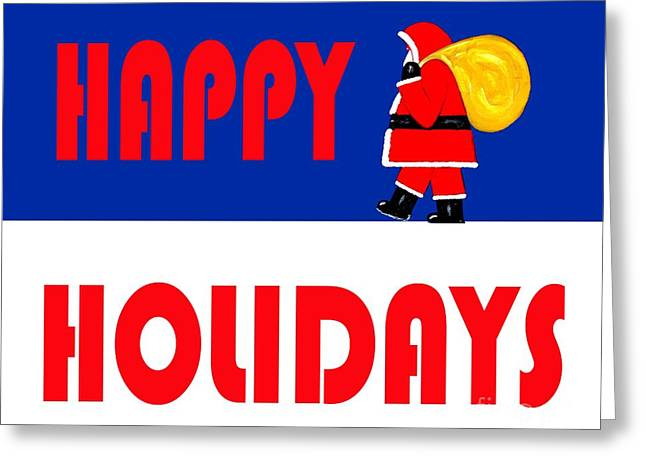 Print Card Greeting Cards - Happy Holidays 15 Greeting Card by Patrick J Murphy
