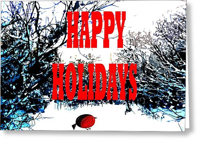 Giving Paintings Greeting Cards - Happy Holidays 23 Greeting Card by Patrick J Murphy