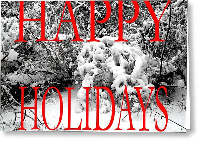 Christmas Posters Photographs Greeting Cards - Happy Holidays 35 Greeting Card by Patrick J Murphy