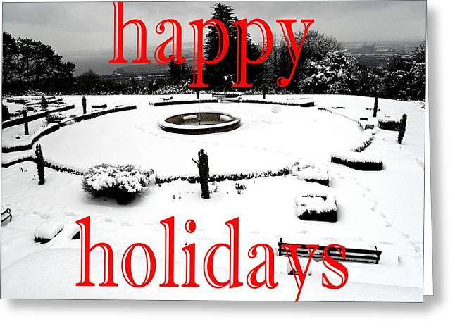 Christmas Posters Photographs Greeting Cards - Happy Holidays 37 Greeting Card by Patrick J Murphy