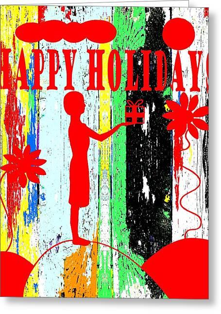Celebration Art Print Greeting Cards - Happy Holidays 62 Greeting Card by Patrick J Murphy
