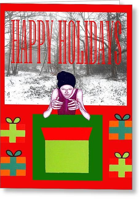 Celebration Art Print Greeting Cards - Happy Holidays 63 Greeting Card by Patrick J Murphy