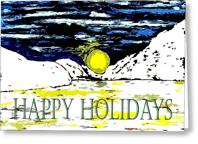 Playing Cards Mixed Media Greeting Cards - Happy Holidays 82 Greeting Card by Patrick J Murphy