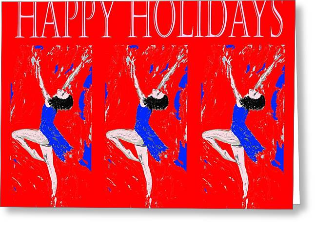 Cute Mixed Media Greeting Cards - Happy Holidays 95 Greeting Card by Patrick J Murphy