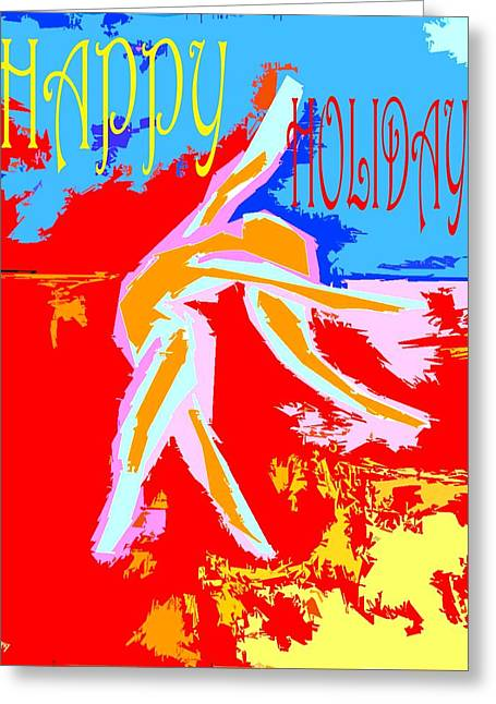 Cute Mixed Media Greeting Cards - Happy Holidays 97 Greeting Card by Patrick J Murphy
