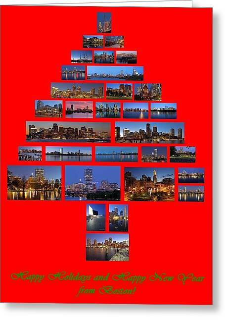 Religious Artwork Photographs Greeting Cards - Happy Holidays and Happy New Year from Boston Greeting Card by Juergen Roth