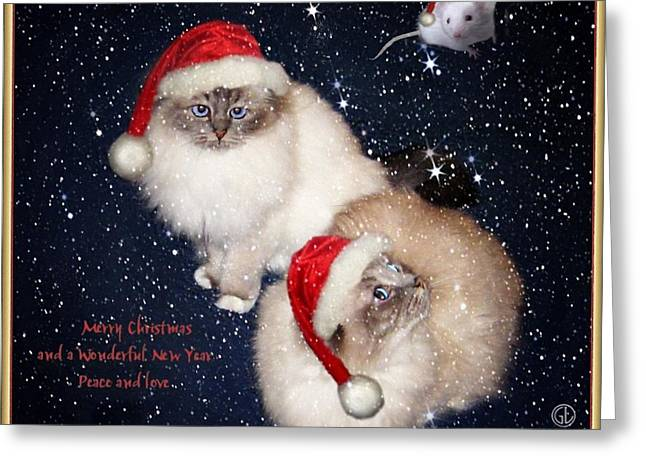 Happy Holidays Greeting Card by Gun Legler