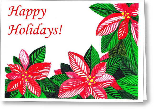 Happy Holidays Greeting Card by Irina Sztukowski