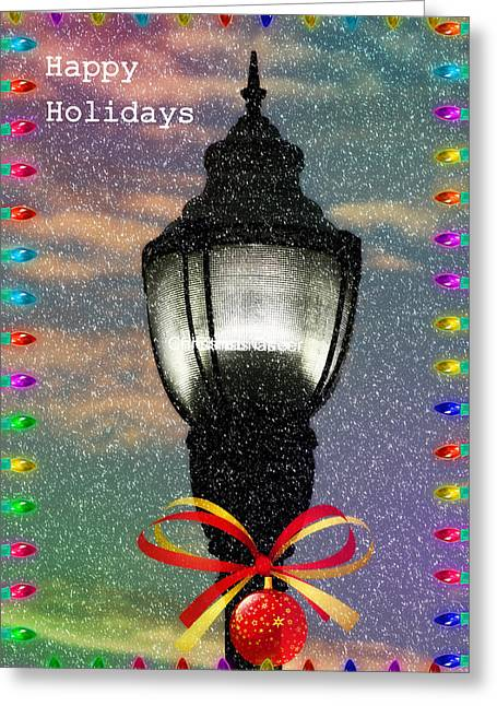 Toddlers Poster Greeting Cards - Happy Holidays  Greeting Card by Kay Novy
