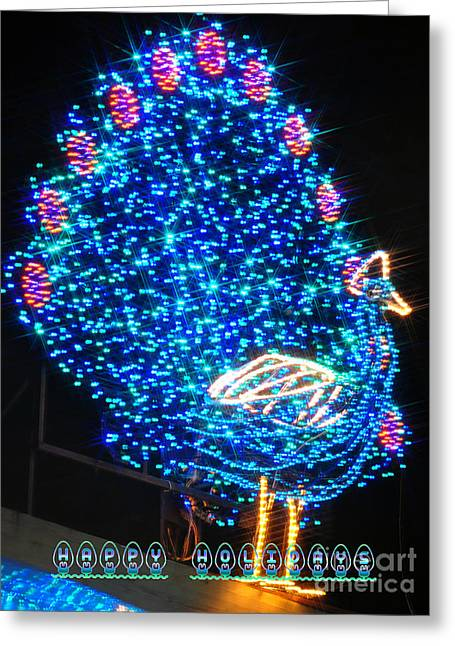 Christmas Lights Greeting Cards - Happy Holidays Greeting Card by Mandy Judson