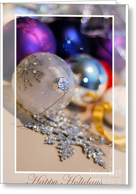 Susan M. Smith Greeting Cards - Happy Holidays Ornaments 2 Greeting Card by Susan Smith