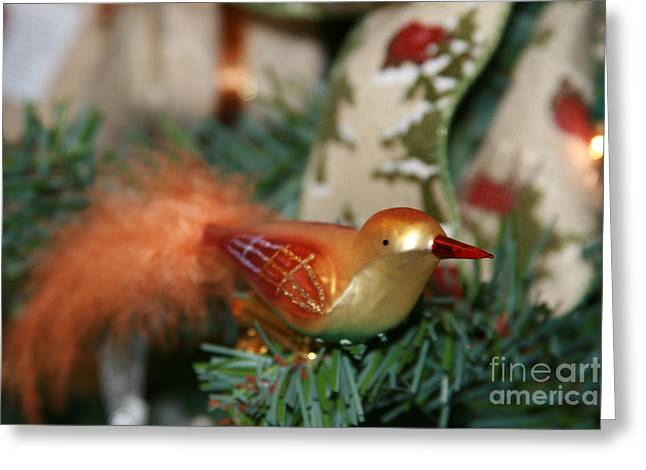 Frohe Greeting Cards - Happy Holidays Greeting Card by Sharon Mau