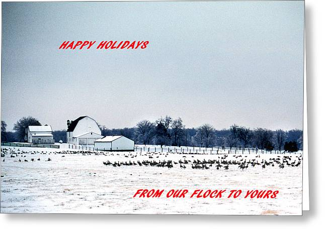 Rural Snow Scenes Greeting Cards - Happy Holidays Greeting Card by Skip Willits