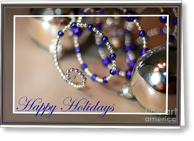 Susan M. Smith Greeting Cards - Happy Holidays Spiral Greeting Card by Susan Smith