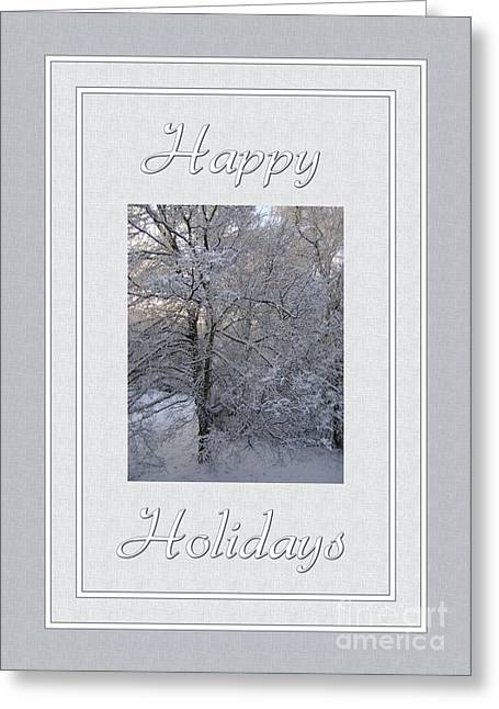 Occasion Greeting Cards - Happy Holidays Winter Greeting Card by JH Designs
