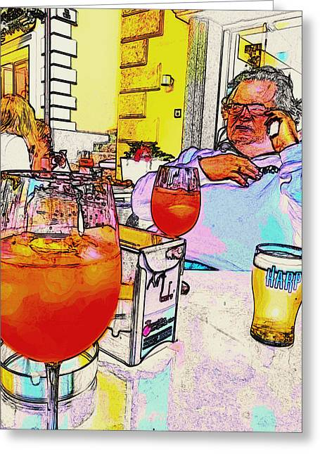 Obese Greeting Cards - Happy Hour Indulgence Greeting Card by Mountain Dreams
