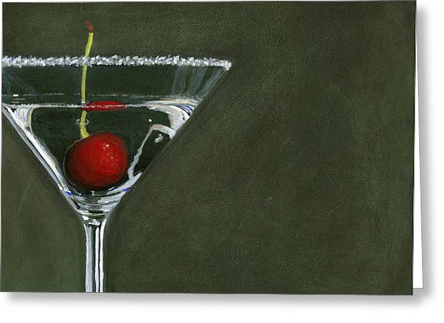 Toast Paintings Greeting Cards - Happy Hour Greeting Card by Karyn Robinson