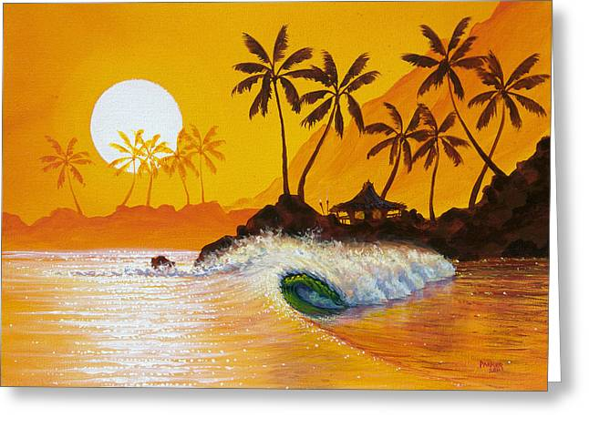 Surf Art Greeting Cards - Happy Hour Greeting Card by Patrick Parker