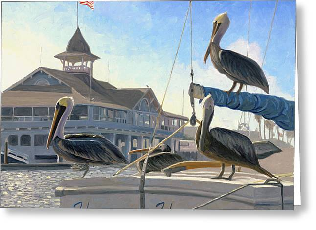 Newport Greeting Cards - Happy Hour Greeting Card by Steve Simon