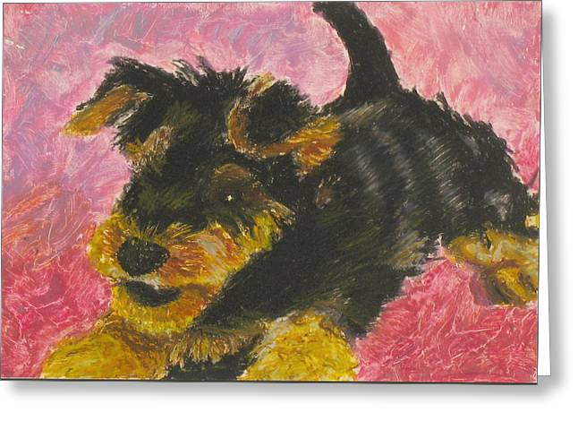 Expression Pastels Greeting Cards - Happy Greeting Card by Jeanne Fischer