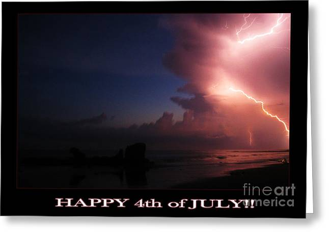 4th July Photographs Greeting Cards - Happy July 4th Greeting Card by Stav Stavit Zagron