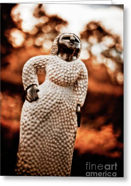 Zimbabwe Greeting Cards - Happy Lady Greeting Card by Venetta Archer