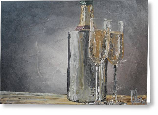 Bubbly Paintings Greeting Cards - Happy Greeting Card by Lee Stockwell