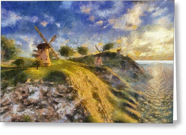 Fabled Greeting Cards - Happy mills Greeting Card by Marina Likholat