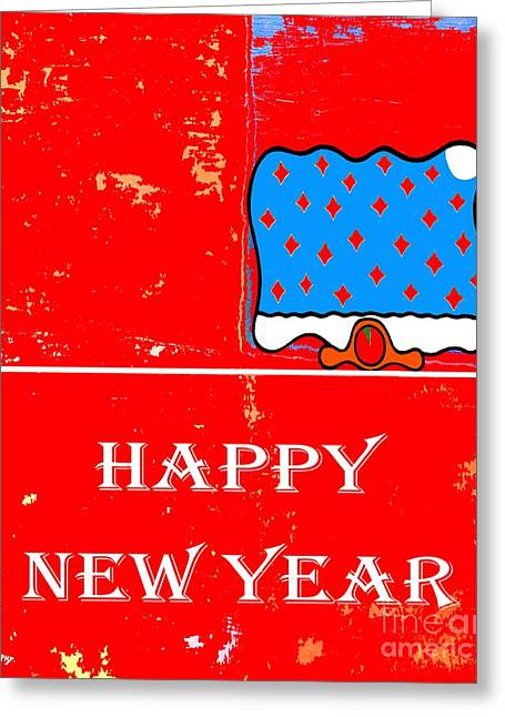 New Year Greeting Cards - Happy New Year 1 Greeting Card by Patrick J Murphy