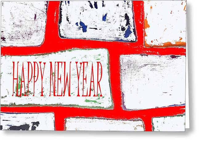 Wishes Mixed Media Greeting Cards - Happy New Year 103 Greeting Card by Patrick J Murphy