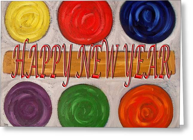 Wishes Mixed Media Greeting Cards - Happy New Year 104 Greeting Card by Patrick J Murphy