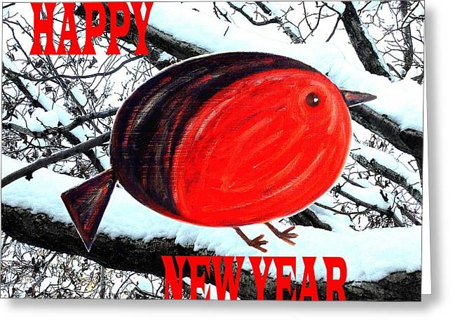 New Year Mixed Media Greeting Cards - Happy New Year 16 Greeting Card by Patrick J Murphy