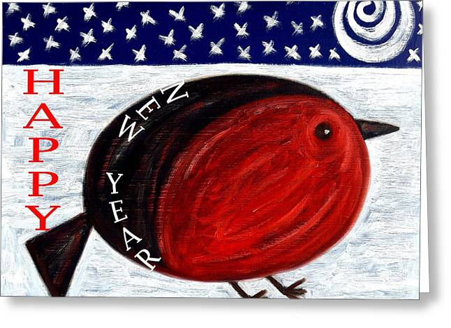 Giving Paintings Greeting Cards - Happy New Year 3 Greeting Card by Patrick J Murphy