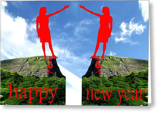 Christmas Posters Photographs Greeting Cards - Happy New Year 36 Greeting Card by Patrick J Murphy