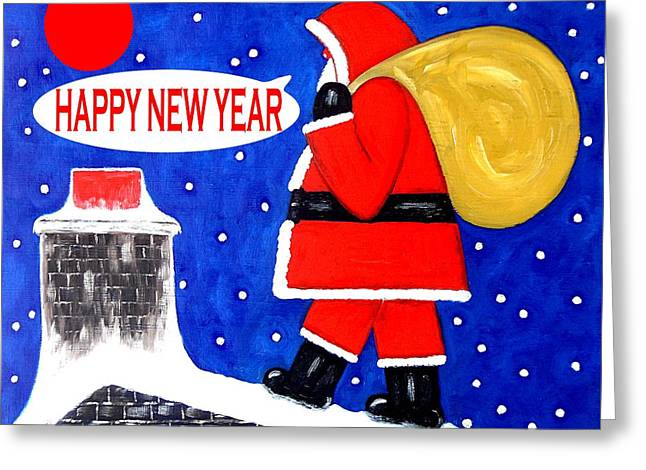 Celebration Art Print Greeting Cards - Happy New Year 48 Greeting Card by Patrick J Murphy