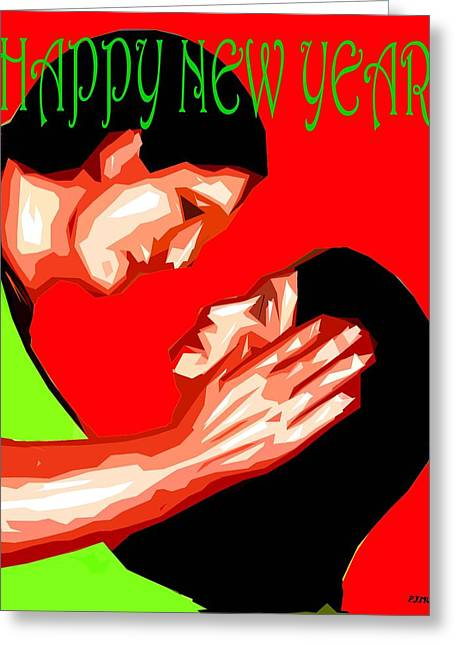 Celebration Art Print Greeting Cards - Happy New Year 49 Greeting Card by Patrick J Murphy