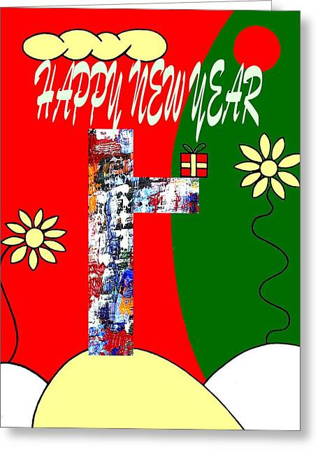Celebration Art Print Greeting Cards - Happy New Year 50 Greeting Card by Patrick J Murphy