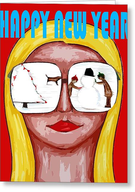 Celebration Art Print Greeting Cards - Happy New Year 51 Greeting Card by Patrick J Murphy