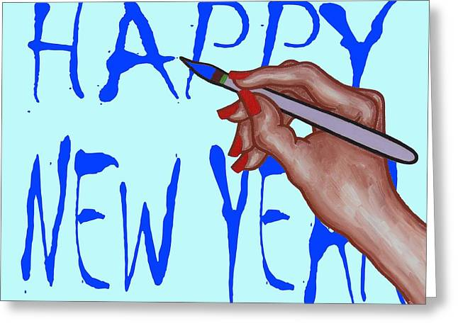 New Year Mixed Media Greeting Cards - Happy New Year 59 Greeting Card by Patrick J Murphy