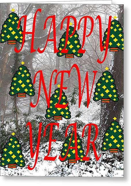 New Year Mixed Media Greeting Cards - Happy New Year 60 Greeting Card by Patrick J Murphy