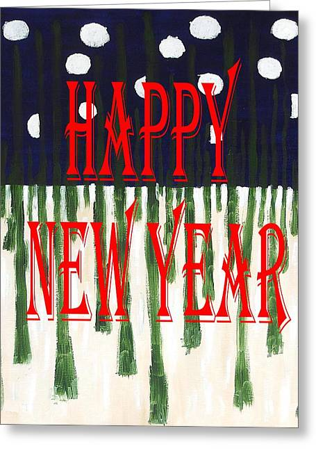 New Year Mixed Media Greeting Cards - Happy New Year 92 Greeting Card by Patrick J Murphy